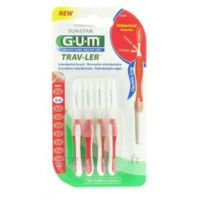 Gum Trav-ler 4 Brossettes Rouge Interdentaires 0.8mm à AYGUESVIVES