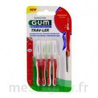 Gum Trav - Ler, 0,8 Mm, Manche Rouge , Blister 4 à AYGUESVIVES