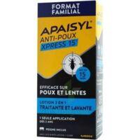 Apaisyl Anti-poux Xpress 15' Lotion Antipoux Et Lente 100ml+peigne à AYGUESVIVES