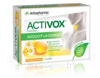 Activox Sans Sucre Pastilles Miel Citron B/24 à AYGUESVIVES
