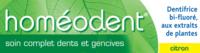 Boiron Homéodent Soin Complet Dents Et Gencives Pâte Dentifrice Citron 2t/75ml à AYGUESVIVES