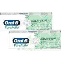 Oral B Pureactiv Dentifrice Soin Essentiel 2t/75ml à AYGUESVIVES