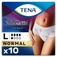 Tena Lady Silhouette Slip Absorbant Blanc Normal Large Paquet/10 à AYGUESVIVES